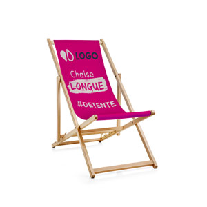 Chaise longue perso rose